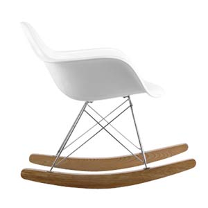 Rocket White Rocking Chair