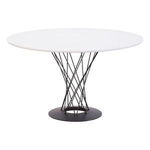 Spiral White and Painted Steel Dining Table