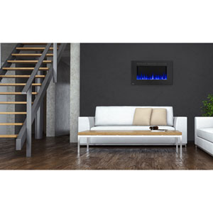Allure 42-Inch Electric Fireplace with Heater and Remote