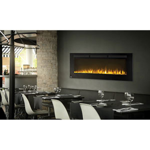 Allure 50-Inch Electric Fireplace with Heater and Remote