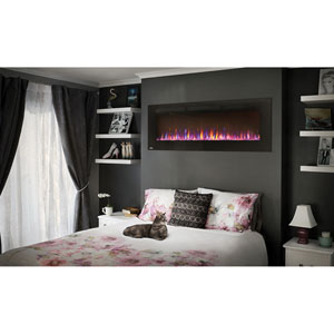 Allure 60-Inch Electric Fireplace with Heater and Remote