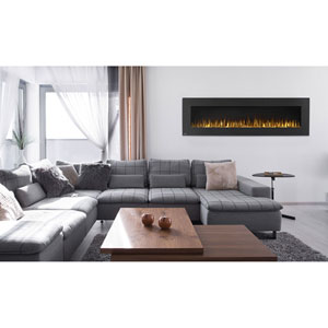 Allure 72-Inch Electric Fireplace with Heater and Remote