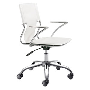 White Trafico Office Chair