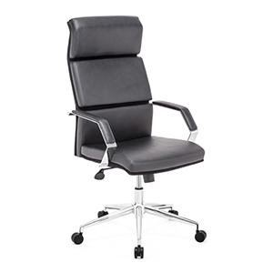 Lider Pro Black and Chromed Steel Office Chair