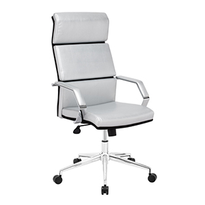 Lider Pro Silver and Chromed Steel Office Chair