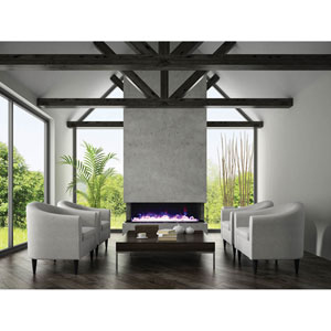 Truview 72 In. Three-Sided Fireplace