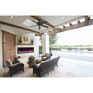 Panorama Black 50-Inch Slim Electric Fireplace