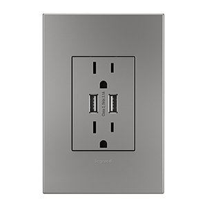 Magnesium Dual USB Plus-Size Outlet Combo