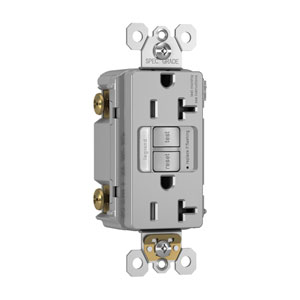 Gray Combination Tamper-Resistant 20A Self-Test Night Light GFCI