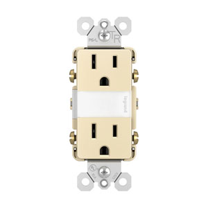 Light Almond Night Light with Two 15A Tamper-Resistant Outlets