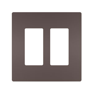 Dark Bronze Screwless 2-Gang Wall Plate