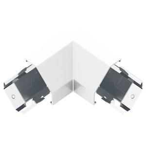 White Modular Track Corner Connector