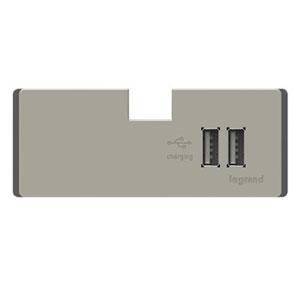 Titanium USB Outlet Module