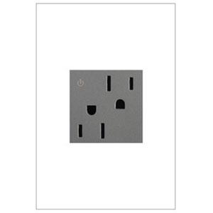 White Tamper Resistant Dual Outlet 15A-125V