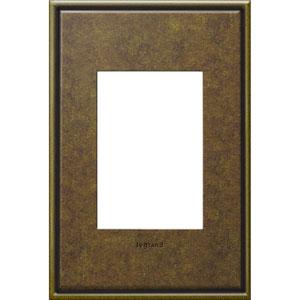 Aged Brass Cast Metal 3-Module Wall Plate