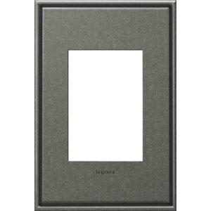 Brushed Pewter Cast Metal 3-Module Wall Plate