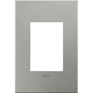 Brushed Stainless Cast Metal Steel 3-Module Wall Plate
