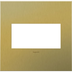 Brushed Brass Cast Metal 2-Gang Wall Plate