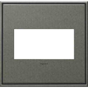 Brushed Pewter Cast Metal 2-Gang Wall Plate