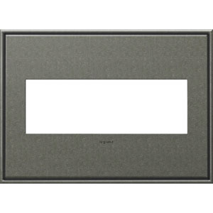 Brushed Pewter Cast Metal 3-Gang Wall Plate