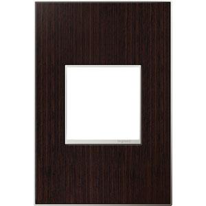 Wenge Wood Real Materials 1-Gang Wall Plate