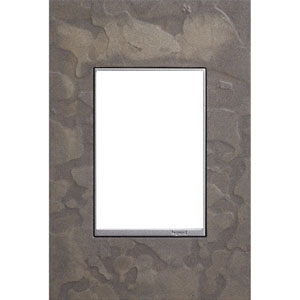 Hubbardton Forge Burnished Steel 3-Module Wall Plate