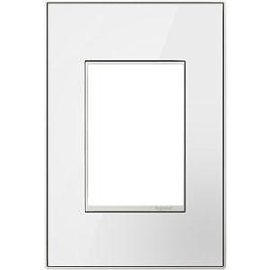 White on White Mirror 3-Module Wall Plate