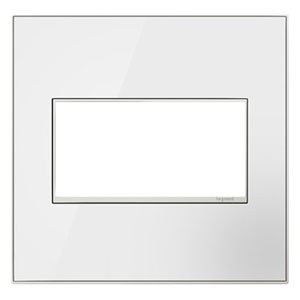White on White Mirror 2-Gang Wall Plate