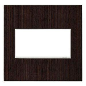 Wenge Wood Real Materials 2-Gang Wall Plate