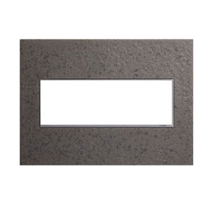 Hubbardton Forge Natural Iron 3-Gang Wall Plate