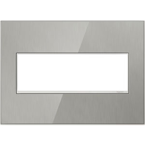 Brushed Stainless Real Materials 3-Gang Wall Plate