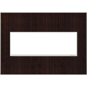 Wenge Wood Real Materials 3-Gang Wall Plate