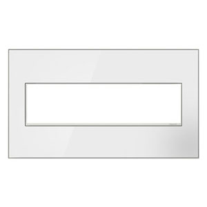 White on White Mirror 4-Gang Wall Plate