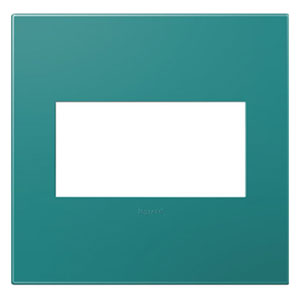 Turquoise Plastics Blue 2-Gang Wall Plate