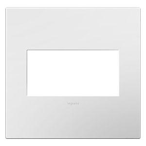 White on White Plastics 2-Gang Wall Plate