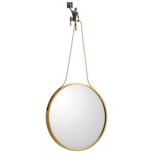 Golden Bronze Muscle Man Mirror