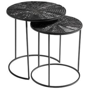 Bronze and Black Quantum Nesting Tables, 2 Piece