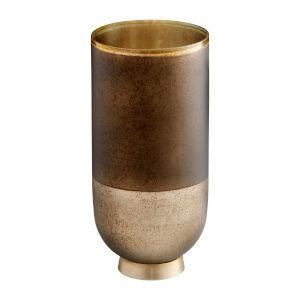 Black Onyx and Champagne Small Pemberton Vase