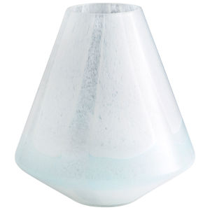 Sky Blue and White Small Backdrift Vase