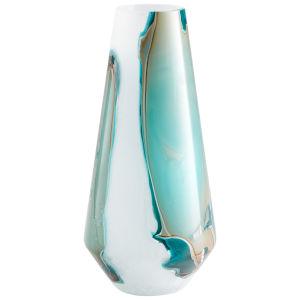 Green and White Tall Ferdinand Vase