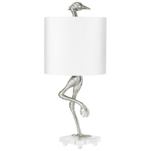 Silver Leaf Ibis Table Lamp