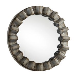 Galvanized 16-Inch Argos Mirror
