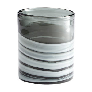 White and Silver 6-Inch Torrent Vase
