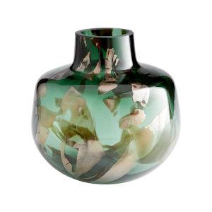 Green and Gold 9-Inch Maisha Vase