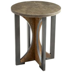 Bronze and Dark Elm Savannah Side Table
