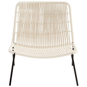 White Althea Accent Chair