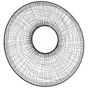 Graphite 17-Inch Silk Noir Mirror