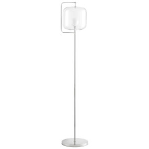 Polished Nickel Isotope Floor Lamp
