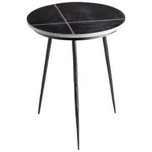 Black Sombrilla Side Table