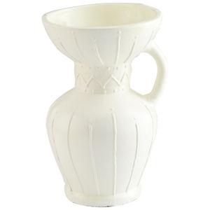 White 12-Inch Ravine Vase